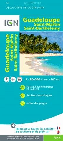 Guadeloupe 1:80.000 9782758533504  IGN   Landkaarten en wegenkaarten Overig Caribisch gebied