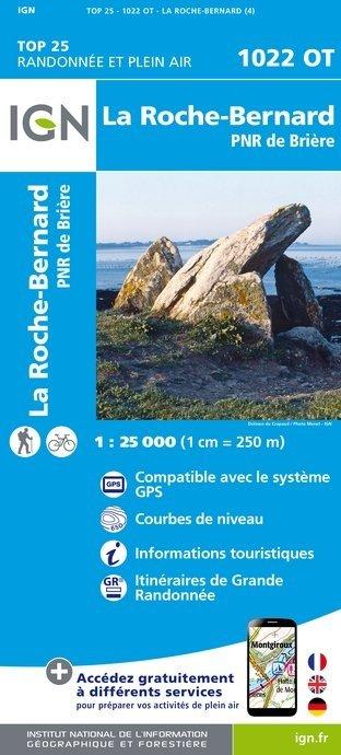 1022OT  La Roche-Bernard, Muzillac   wandelkaart 1:25.000 9782758533733  IGN TOP 25  Wandelkaarten Bretagne