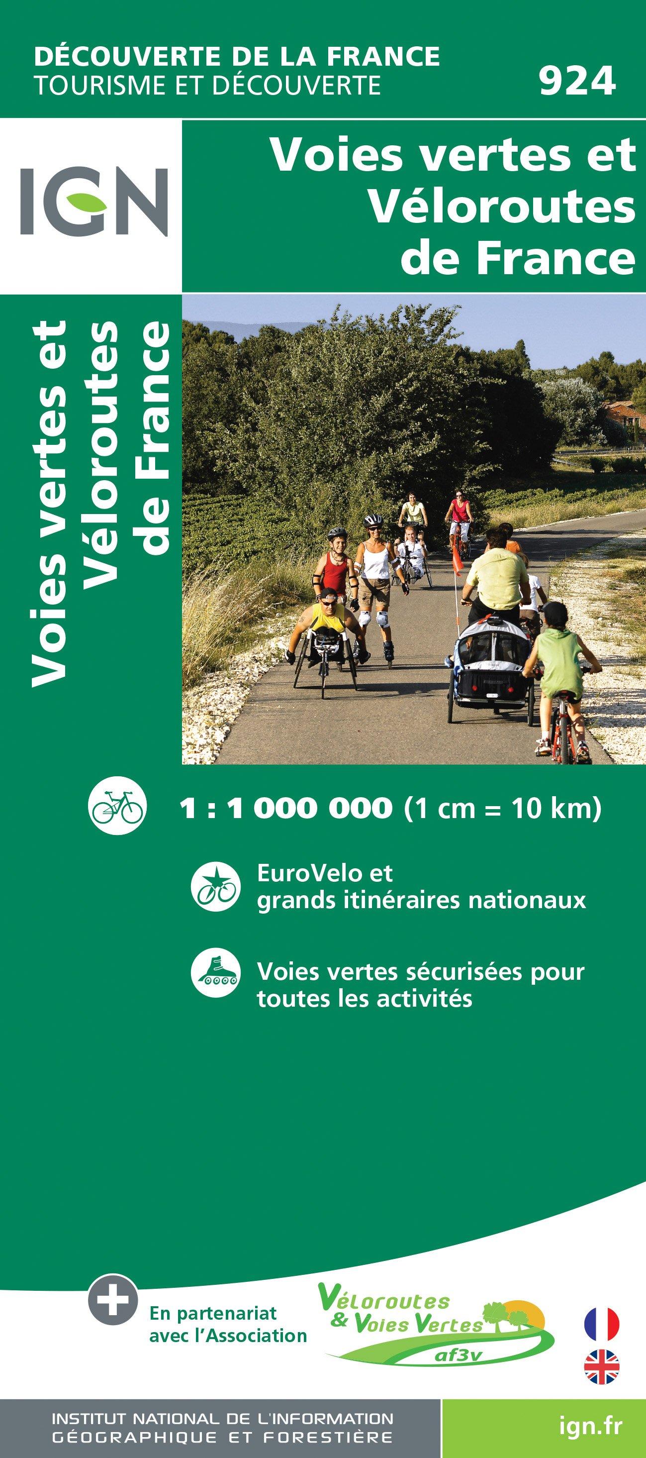 924 Fietskaart Frankrijk - overzichtskaart LF routes1:1.000.000 9782758534600  IGN   Fietskaarten, Meerdaagse fietsvakanties Frankrijk