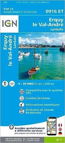 0916ET  Erquy, le Val André, Lamballe | wandelkaart 1:25.000 9782758534938  IGN TOP 25  Wandelkaarten Bretagne