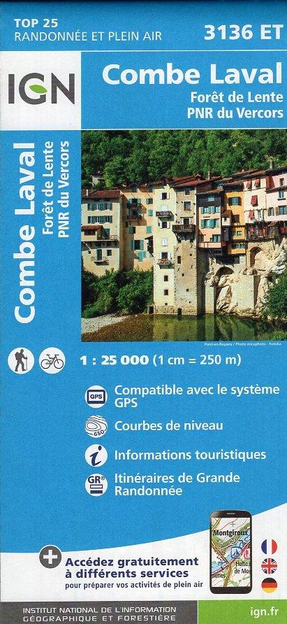 3136ET Combe-Laval, Forêt de Lente | wandelkaart 1:25.000 9782758535041  IGN TOP 25  Wandelkaarten Drôme, Vercors
