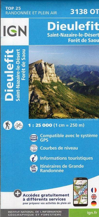 3138OT  Bourdeaux, la Motte-Chalancon | wandelkaart 1:25.000 9782758535065  IGN TOP 25 (1:25.000) Wandelkaarten Franse Alpen  Wandelkaarten tussen Valence, Briançon, Camargue en Nice