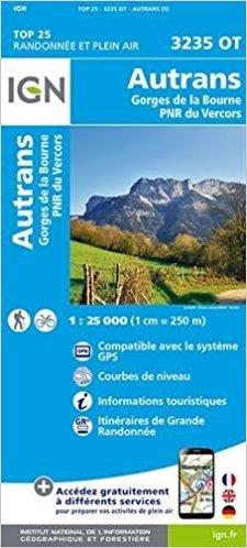 3235OT  Autrans, Lans-en-Vercors | wandelkaart 1:25.000 9782758535072  IGN TOP 25  Wandelkaarten Drôme, Vercors