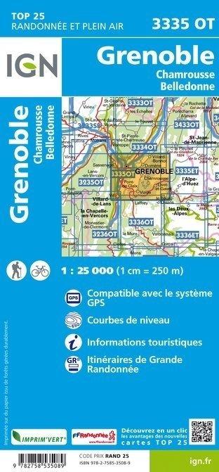3335OT  Grenoble, Chamrousse | wandelkaart 1:25.000 9782758535089  IGN TOP 25  Wandelkaarten Franse Alpen: noord