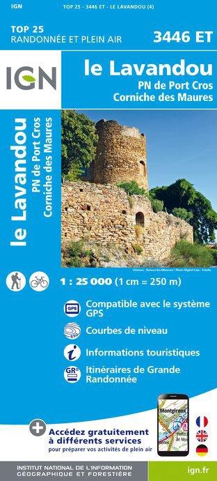 3446ET  Le Lavandou | wandelkaart 1:25.000 9782758535133  IGN TOP 25 (1:25.000) Wandelkaarten Côte-d'Azur  Wandelkaarten tussen Valence, Briançon, Camargue en Nice