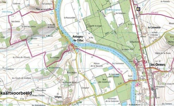 SB-1121SB  Redon, St-Gildas-des-Bois   wandelkaart 1:25.000 9782758535294  IGN Serie Bleue (vernieuwd)  Wandelkaarten Bretagne