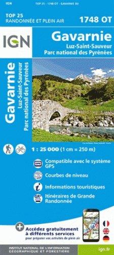 1748OT Gavarnie, Cauterets | wandelkaart 1:25.000 9782758535928  IGN TOP 25  Wandelkaarten Franse Pyreneeën, Toulouse, Gers, Garonne