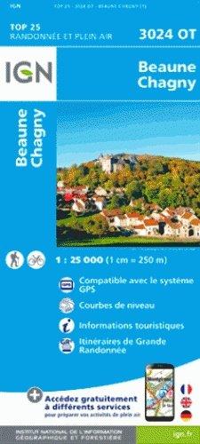 3024OT   Beaune | wandelkaart 1:25.000 9782758536161  IGN TOP 25  Wandelkaarten, Wijnreisgidsen Bourgogne, Morvan, Côte-d'Or