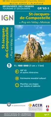 St-Jacques-de-Compostelle: van Le-Puy-en-Velay naar Moissac 9782758536321  IGN   Santiago de Compostela, Wandelkaarten Frankrijk