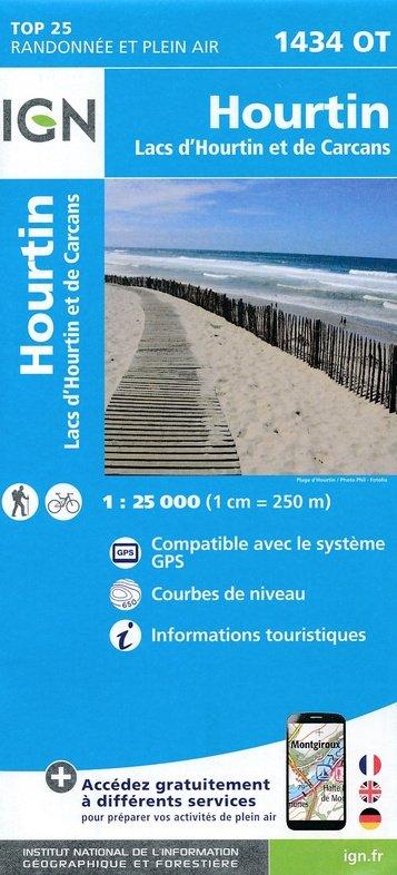 1434OT Lac d'Hourtin et de Carcans | wandelkaart 1:25.000 9782758536925  IGN TOP 25 (1:25.000)  Wandelkaarten Aquitaine, Bordeaux