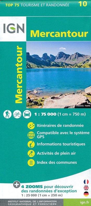 Mercantour IGN 1:75.000 9782758538547  IGN TOP 75  Fietskaarten, Wandelkaarten tussen Valence, Briançon, Camargue en Nice