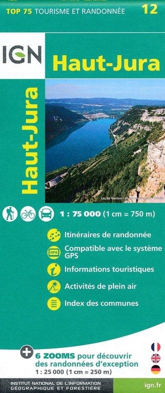 Haut-Jura |  IGN 1:75.000 9782758538554  IGN TOP 75  Fietskaarten, Wandelkaarten Jura, Franche-Comté