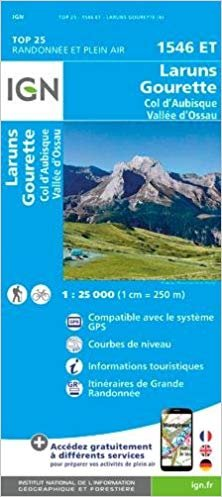 1546ET   Laruns, Col d'Aubisque | wandelkaart 1:25.000 9782758538790  IGN TOP 25  Wandelkaarten Franse Pyreneeën, Toulouse, Gers, Garonne