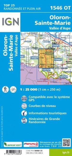 1546OT   Oloron-Ste.Marie | wandelkaart 1:25.000 9782758538806  IGN TOP 25  Wandelkaarten Franse Pyreneeën