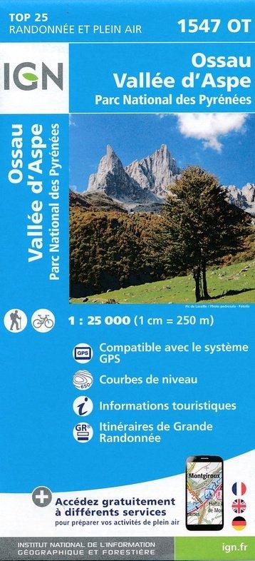 1547OT   Pic du Midi d'Ossau | wandelkaart 1:25.000 9782758538813  IGN TOP 25  Wandelkaarten Franse Pyreneeën, Toulouse, Gers, Garonne
