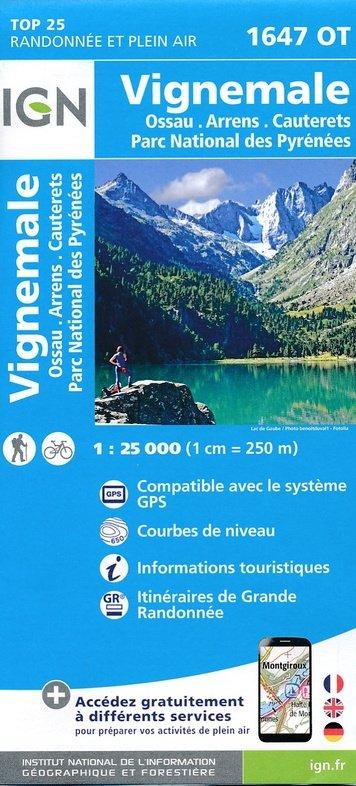 1647OT Vignemale | wandelkaart 1:25.000 9782758538820  IGN TOP 25  Wandelkaarten Franse Pyreneeën, Toulouse, Gers, Garonne