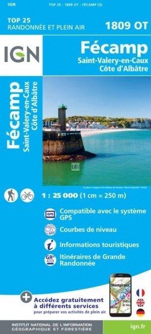 1809OT  Fécamp | wandelkaart 1:25.000 9782758538844  IGN TOP 25  Wandelkaarten Normandië