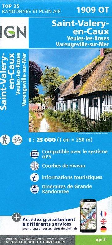 1909OT  Saint-Valery-en-Caux, Veules-les-Roses | wandelkaart 1:25.000 9782758538851  IGN TOP 25  Wandelkaarten Normandië