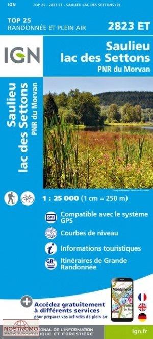 2823ET  Saulieu, Lucenay-l'Évêque | wandelkaart 1:25.000 9782758538882  IGN TOP 25 (1:25.000)  Wandelkaarten Bourgogne, Morvan, Côte-d'Or