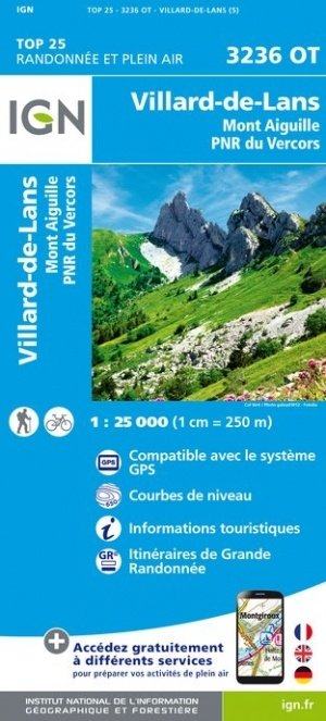 3236OT Villard-de-Lans - Vercors | wandelkaart 1:25.000 9782758538899  IGN TOP 25 (1:25.000) Wandelkaarten Franse Alpen  Wandelkaarten Lyon, Ain, Savoie, Mont Blanc, Vanoise, Chartreuse