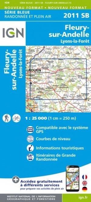 SB-2111SB Fleury-sur-Andelle, Lyons-la-Forêt    wandelkaart 1:25.000 9782758539032  IGN Serie Bleue (vernieuwd)  Wandelkaarten Normandië