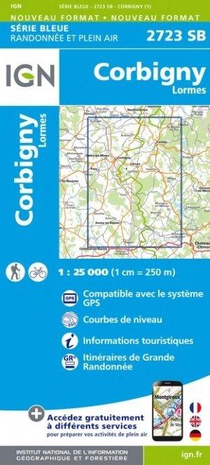 SB-2723SB Corbigny / Lormes  | wandelkaart 1:25.000 9782758539094  IGN Serie Bleue (vernieuwd)  Wandelkaarten