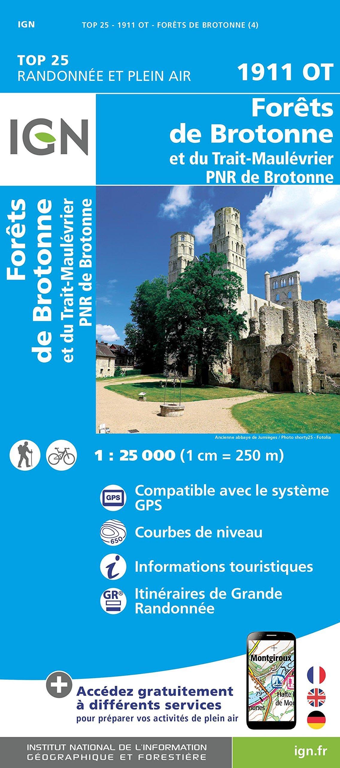 1911OT Parc de Brotonne | wandelkaart 1:25.000 9782758539551  IGN TOP 25  Wandelkaarten Normandië
