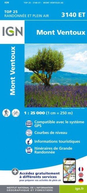 3140ET   Mont Ventoux | wandelkaart 1:25.000 9782758539759  IGN TOP 25 (1:25.000) Wandelkaarten Provence  Wandelkaarten tussen Valence, Briançon, Camargue en Nice