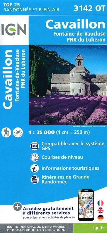 3142OT   Fontaine-de-Vaucluse, Gordes | wandelkaart 1:25.000 9782758539766  IGN TOP 25  Wandelkaarten tussen Valence, Briançon, Camargue en Nice