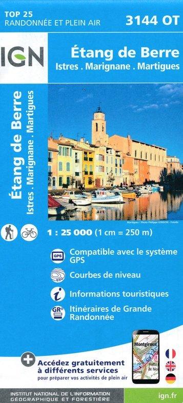 3144OT  Martigues, étang de Berre | wandelkaart 1:25.000 9782758539773  IGN TOP 25  Wandelkaarten tussen Valence, Briançon, Camargue en Nice