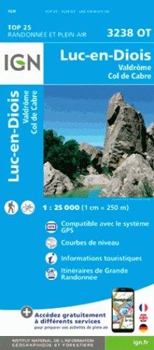3238OT  Luc-en-Diois | wandelkaart 1:25.000 9782758539827  IGN TOP 25  Wandelkaarten Drôme, Vercors
