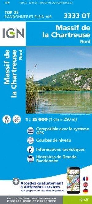 3333OT  Chartreuse/Nord   wandelkaart 1:25.000 9782758539872  IGN TOP 25  Wandelkaarten Chartreuse, Bauges, Vanoise