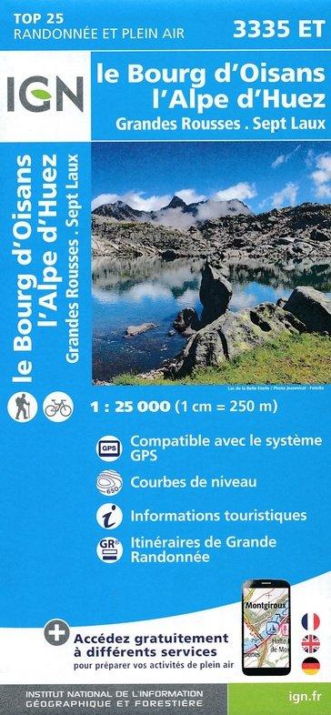 3335ET Alpe d'Huez, Le Bourg d'Oisans | wandelkaart 1:25.000 9782758539896  IGN TOP 25  Wandelkaarten Écrins, Queyras