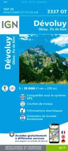 3337OT Dévoluy, Obiou, Pic de Bure | wandelkaart 1:25.000 9782758539919  IGN TOP 25  Wandelkaarten Écrins, Queyras
