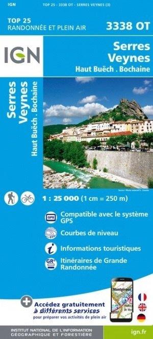 3338OT   Aspres-sur-Buëch, Veynes | wandelkaart 1:25.000 9782758539926  IGN TOP 25 (1:25.000) Wandelkaarten Franse Alpen  Wandelkaarten tussen Valence, Briançon, Camargue en Nice
