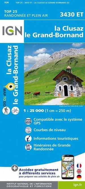 3430ET La Clusaz, le Grand-Bornand | wandelkaart 1:25.000 9782758539995  IGN TOP 25  Wandelkaarten Haute Savoie, Mont Blanc