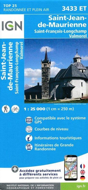 3433ET  Col de la Madeleine | wandelkaart 1:25.000 9782758540038  IGN TOP 25  Wandelkaarten Chartreuse, Bauges, Vanoise