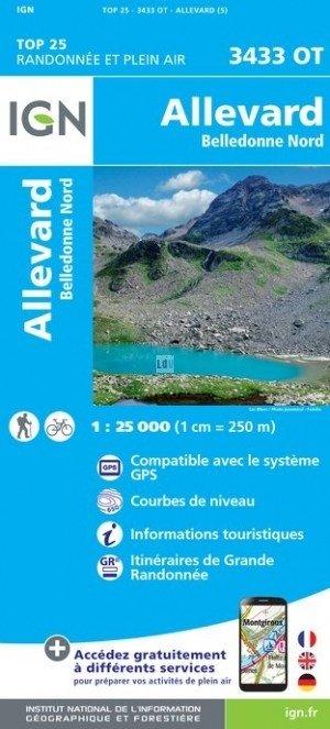 3433OT Allevard, La Rochette | wandelkaart 1:25.000 9782758540045  IGN TOP 25  Wandelkaarten Lyon, Ain, Savoie, Mont Blanc, Vanoise, Chartreuse