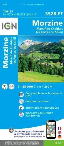 3528ET Massif du Chablais, Avoriaz | wandelkaart 1:25.000 9782758540052  IGN TOP 25  Wandelkaarten Haute Savoie, Mont Blanc