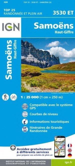 3530ET Samoëns, Haut Giffre | wandelkaart 1:25.000 9782758540069  IGN TOP 25  Wandelkaarten Haute Savoie, Mont Blanc