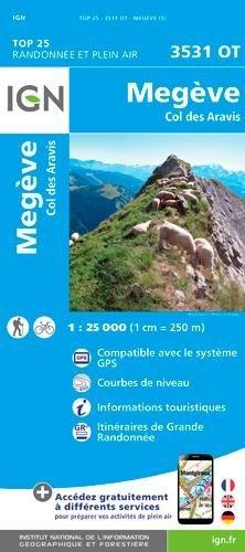 3531OT  Megève, Col des Aravis, Flumet | wandelkaart 1:25.000 9782758540076  IGN TOP 25  Wandelkaarten Haute Savoie, Mont Blanc