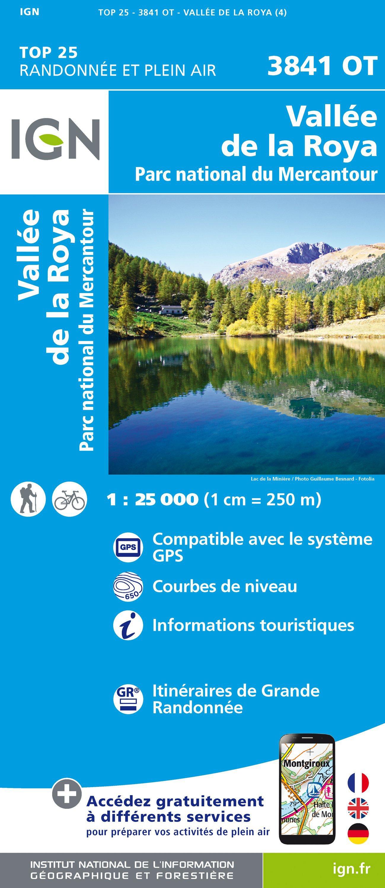 3841OT  Vallée de la Roya | wandelkaart 1:25.000 9782758540397  IGN TOP 25 (1:25.000) Wandelkaarten Franse Alpen  Wandelkaarten tussen Valence, Briançon, Camargue en Nice