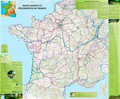 Voies Vertes et Véloroutes en France 1:1.000.000 PLANOKAART 9782758540724  IGN   Fietskaarten Frankrijk