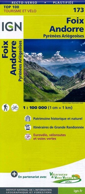 SV-173  St.Gaudens/Andorre 9782758540892  IGN Série Verte 1:100.000  Fietskaarten, Landkaarten en wegenkaarten Franse Pyreneeën, Toulouse, Gers, Garonne