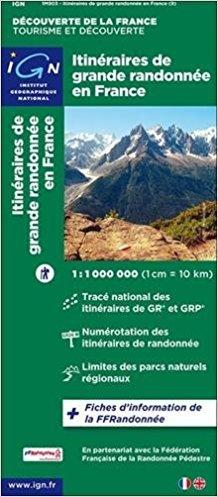 903  France: les Sentiers de G.R.  1:1.000.000 9782758540922  IGN   Wandelkaarten Frankrijk