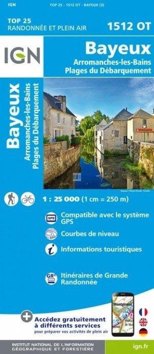 1512OT  Bayeux, Port-en-Bessin | wandelkaart 1:25.000 9782758540960  IGN TOP 25  Wandelkaarten Normandië