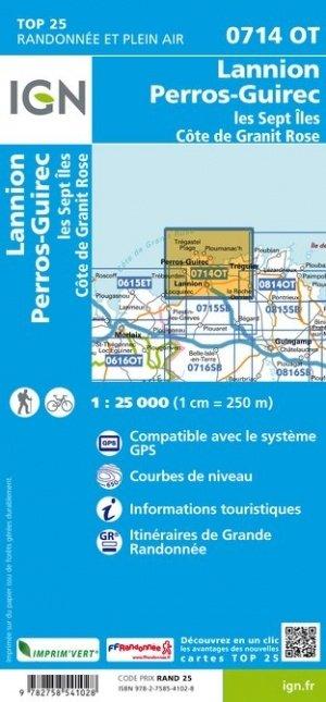 0714OT  Côte de Granit Rose | wandelkaart 1:25.000 9782758541028  IGN TOP 25  Wandelkaarten Bretagne