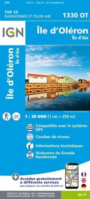 1330OT   Île-d'Oléron, île d'Aix | wandelkaart 1:25.000 9782758541080  IGN TOP 25  Wandelkaarten Loire Atlantique, Charente, Vendée