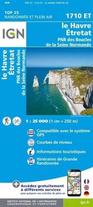 1710ET  Côte-d'Albâtre Étretat,Le Havre | wandelkaart 1:25.000 9782758541356  IGN TOP 25 (1:25.000)  Wandelkaarten Normandië