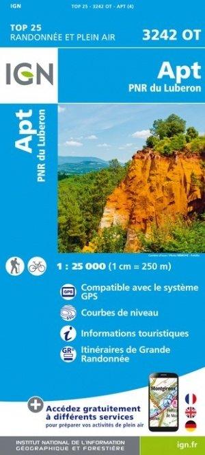 3242OT   Apt , P.N.Rég. du Luberon | wandelkaart 1:25.000 9782758541820  IGN TOP 25  Wandelkaarten tussen Valence, Briançon, Camargue en Nice